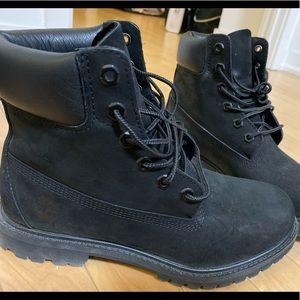 Black Timberlands BRAND NEW WORN ONCE
